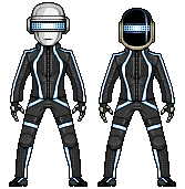 Daft Punk (TRON attire) by alexmicroheroes