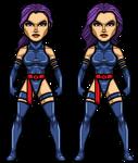 Psylocke by alexmicroheroes