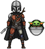 The Mandalorian and The Child by alexmicroheroes