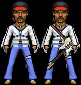 Jimi Hendrix by alexmicroheroes