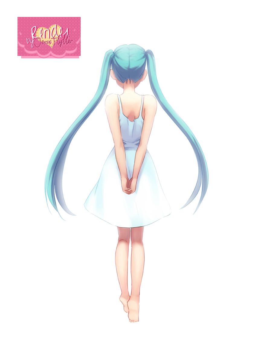 Hatsune Miku Render #2 by JessxFlyller