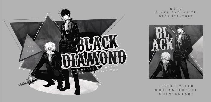 Black Diamond   Reto BW by JessxFlyller