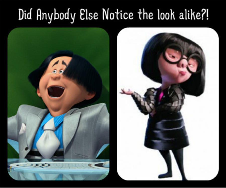 The look alike between O'Hare and Edna Mode? by Girlshadowlover