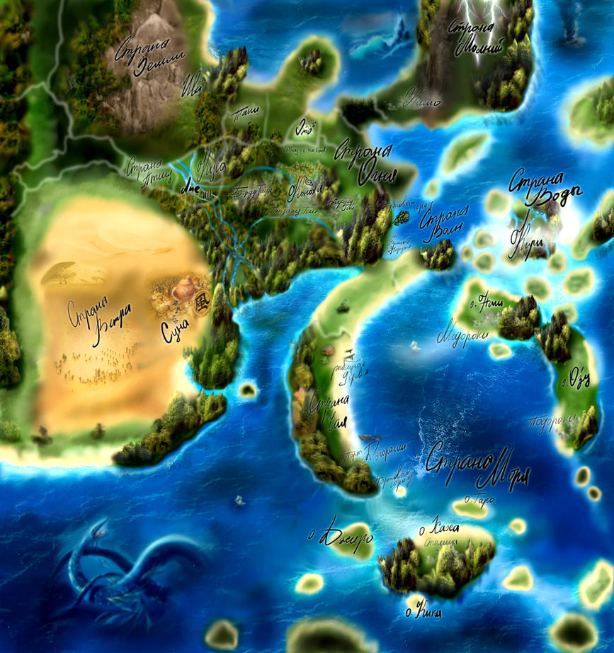 Naruto World Map by MiaHarper on DeviantArt