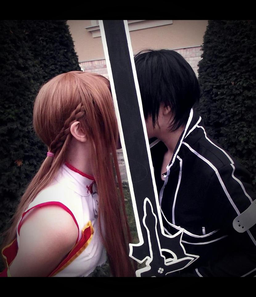 Kirito and Asuna-Kiss by SakuIta222
