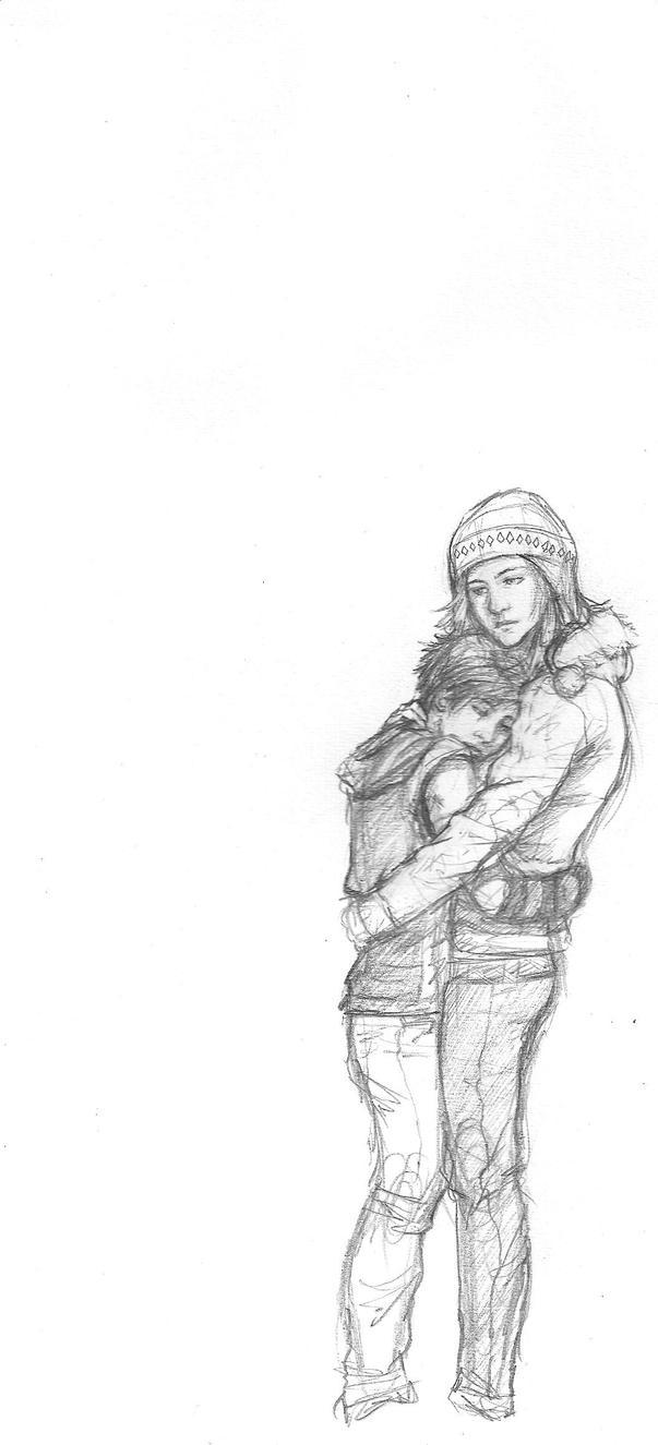 Sad hug by Make-Belief on DeviantArt