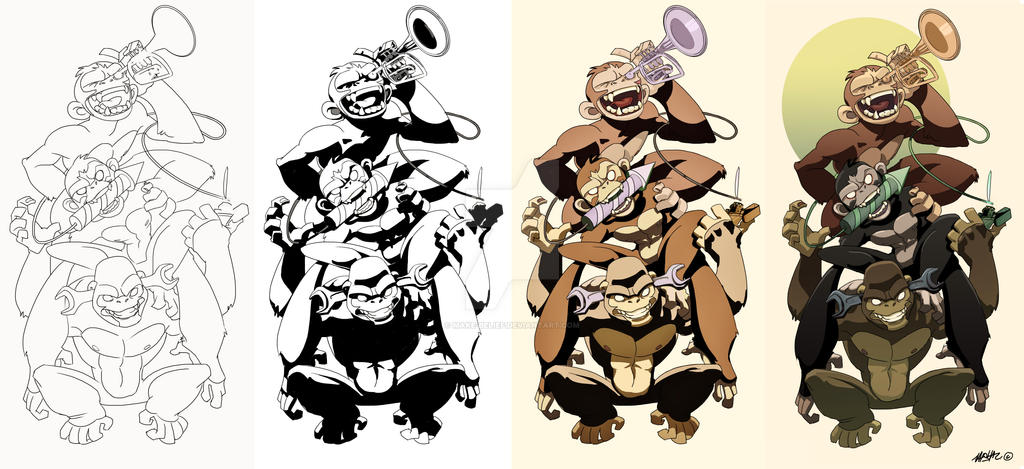1db6ea34c 3 Wise Monkey Brothers by Make-Belief on DeviantArt