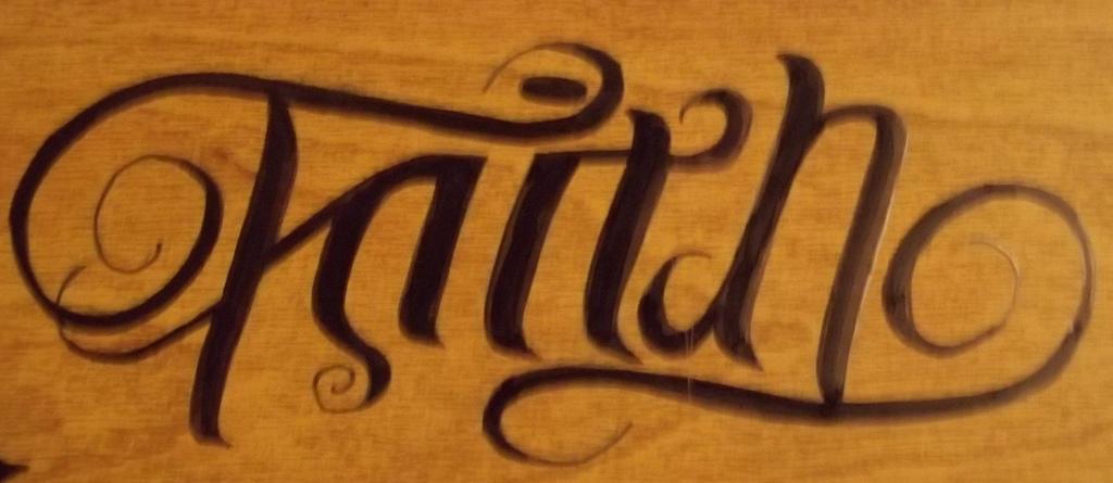 ambigram faith trust by maplr20 on deviantart. Black Bedroom Furniture Sets. Home Design Ideas