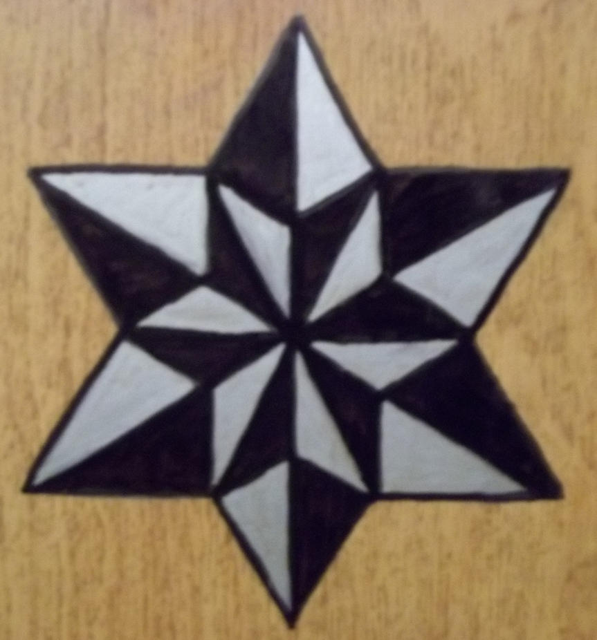 six point star tattoo designs pictures to pin on pinterest tattooskid. Black Bedroom Furniture Sets. Home Design Ideas