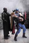 Nick Fury - Dark SuperGirl - Captain America