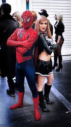 Spiderman and Evil SuperGirl
