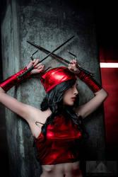 Cosplay Elektra from Marvel - Hekady