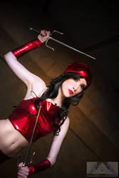 Cosplay Elektra from Marvel by Hekady