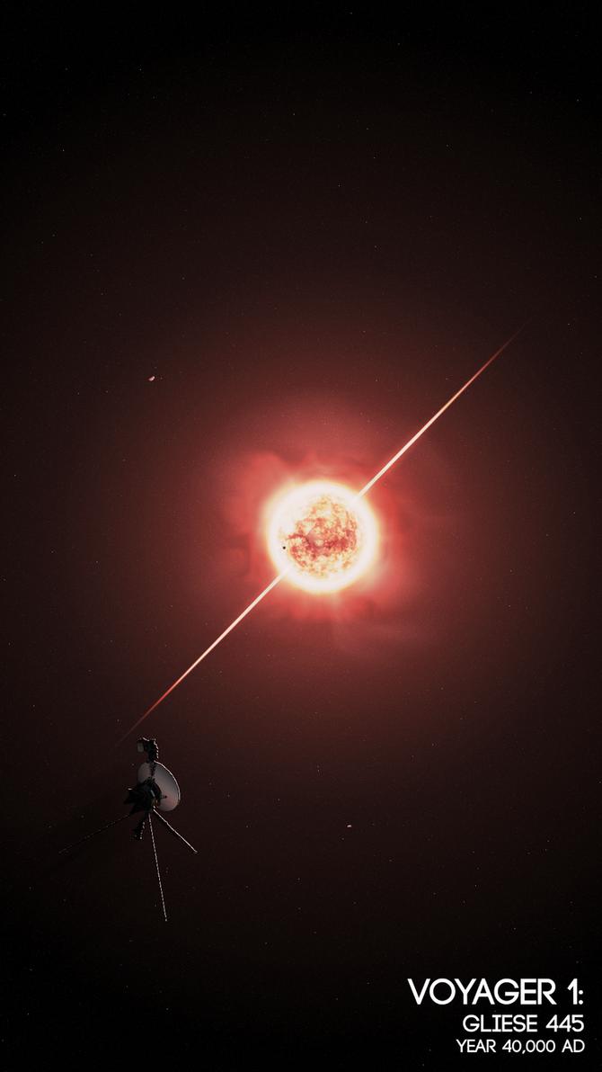 Voyager: Gliese 445 by Drydareelin