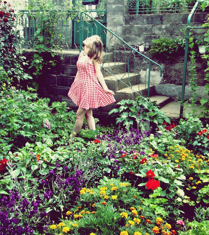 In this garden.