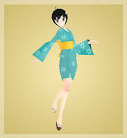 Low Poly 3D Tsukihi by Poribo