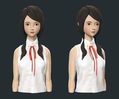 PBR Test Girl WIP by Poribo