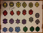 CFV Clan Symbols Perler Bead Charms