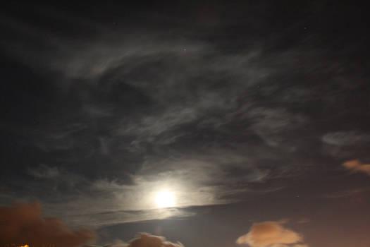 A cloudy evening
