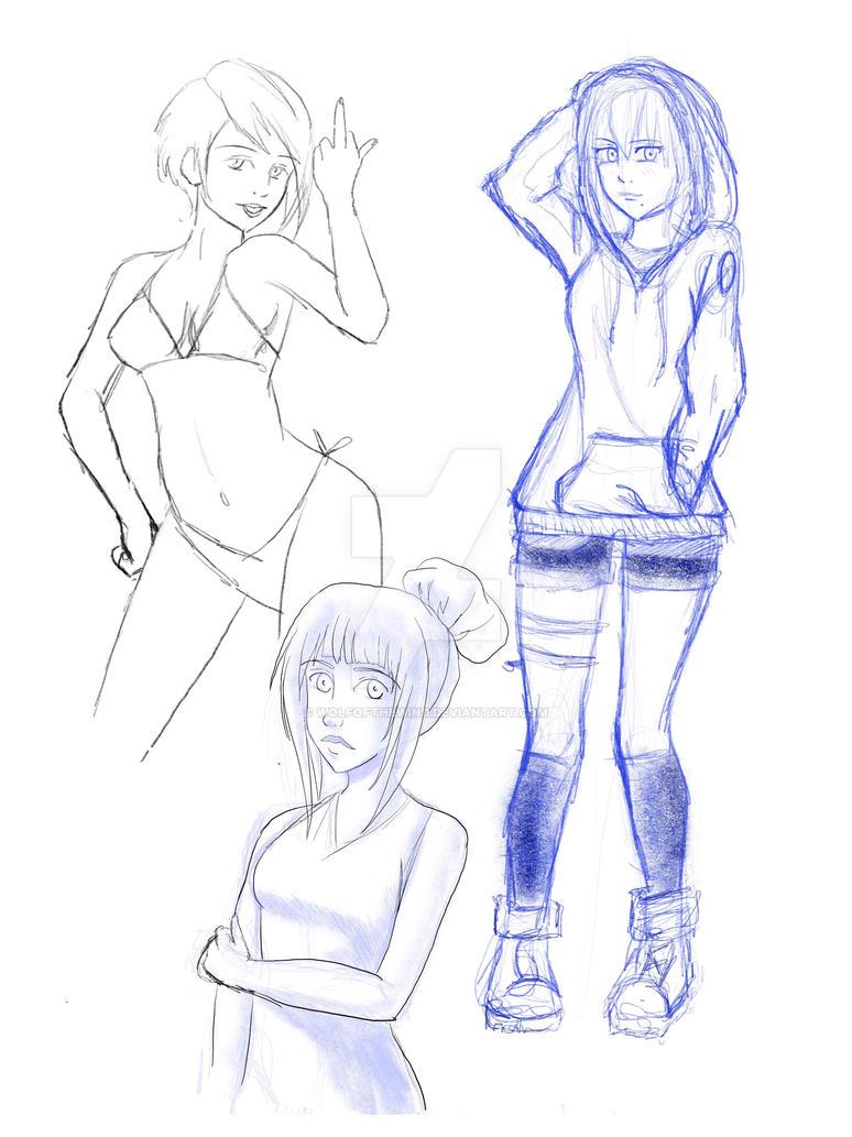 Sketch dump by WolfOfTheWind