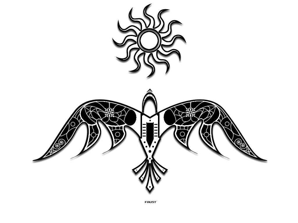 tribal crow tattoo designs. Black Bedroom Furniture Sets. Home Design Ideas