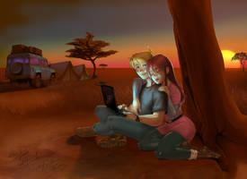 Jonny Quest - Laptop for two by Jonboy2312