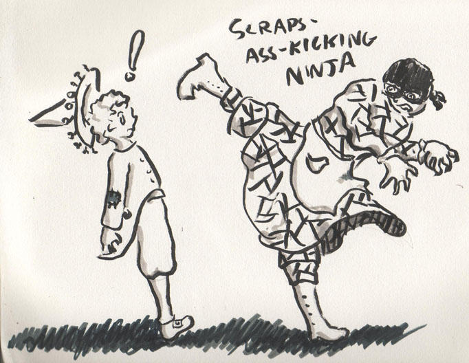 Scraps, the Ass-Kicking Ninja by HiloHello