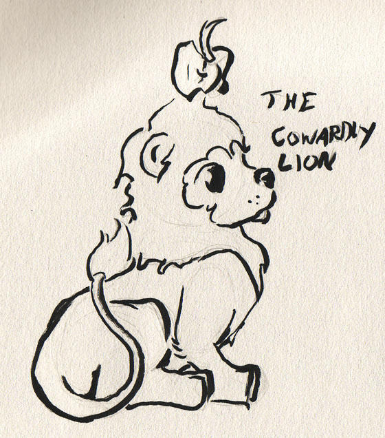 The Cowardly Lion by HiloHello