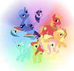 Color Wheel Of Ponies