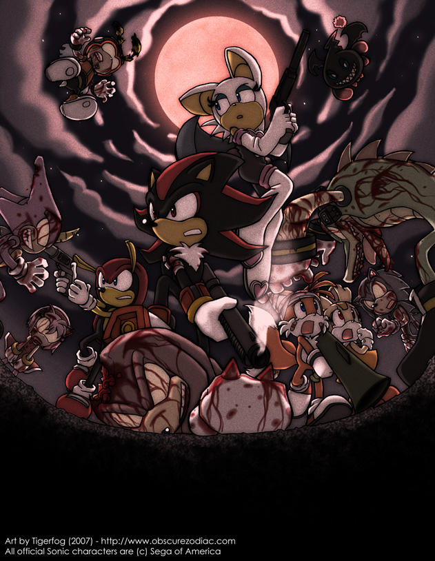 Sega Sonic Zombies By Tigerfog On Deviantart