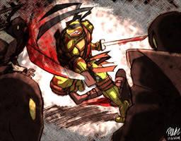 Leonardo vs Foot Ninjas