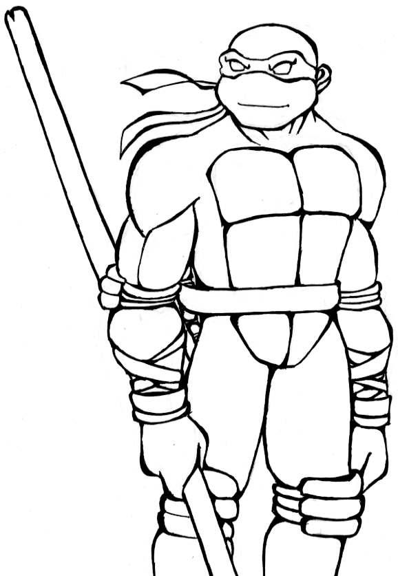 Tmnt 2003 coloring pages ~ Donatello - black and white by Tigerfog on DeviantArt