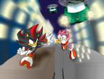 Shadow-Amy chased by G.U.N.