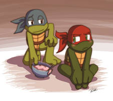 Raph's melted ice cream