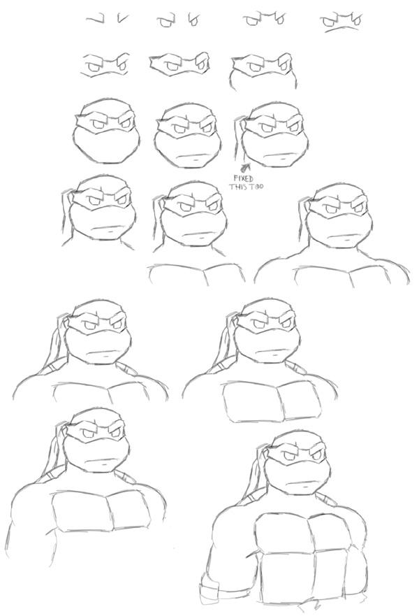 how to draw turtle face drawing