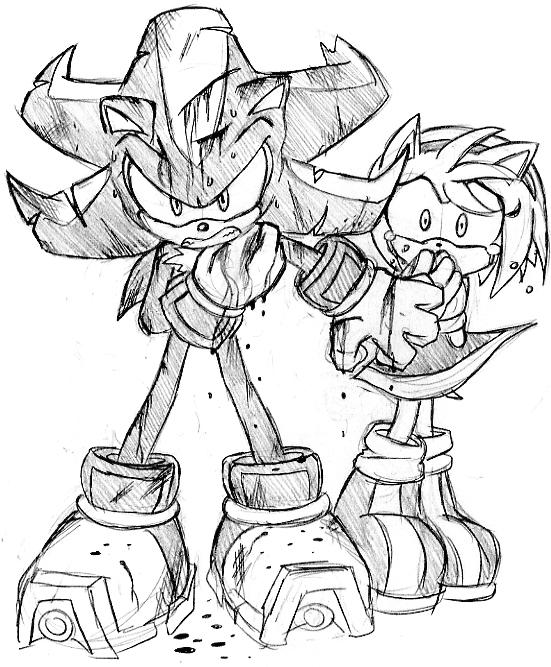 shadow and amy coloring pages - photo#33