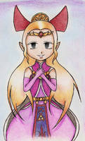 Art Exchange... Princess Zelda by DogDemonsRock5