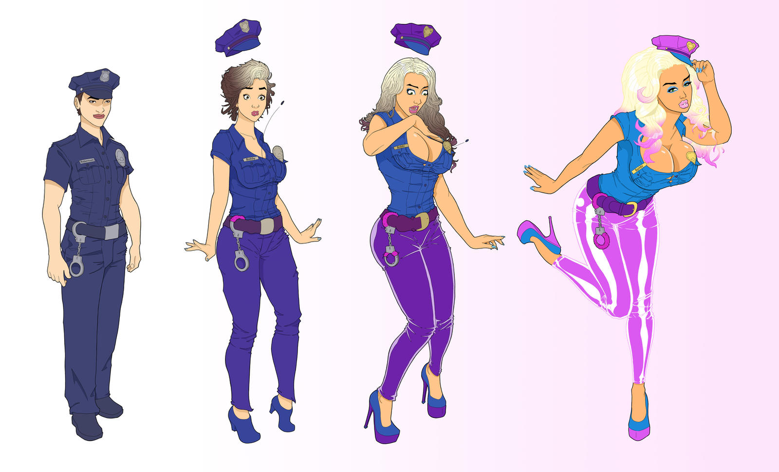 Cop Bimbo TF Color By Banedearg On DeviantArt