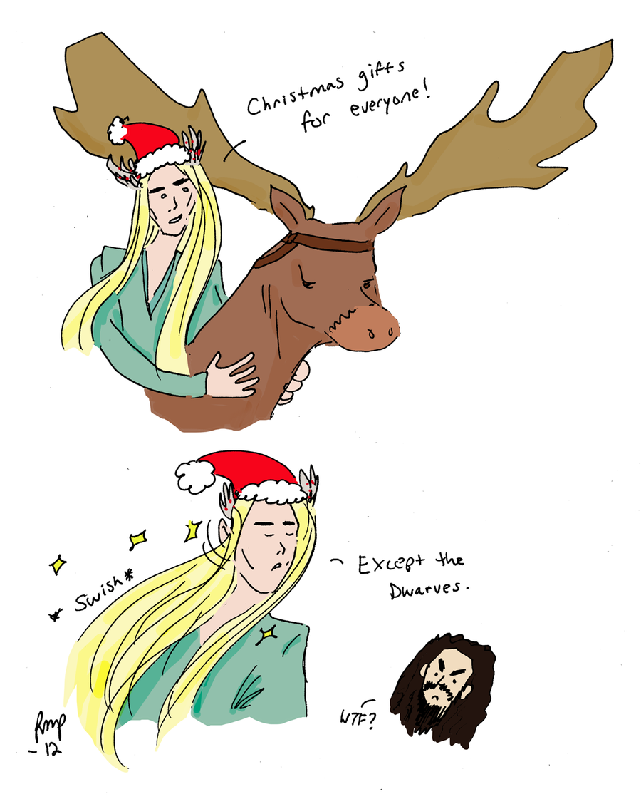 The Hobbit: Christmas with Thranduil by RomaniaBlack on DeviantArt