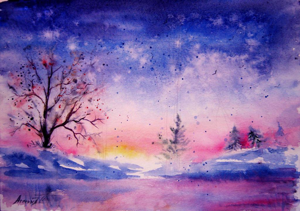Winter Evening by AnnaArmona