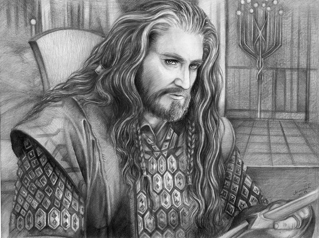 Thorin in Rivendell by AnnaArmona