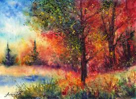 Autumn evening by AnnaArmona