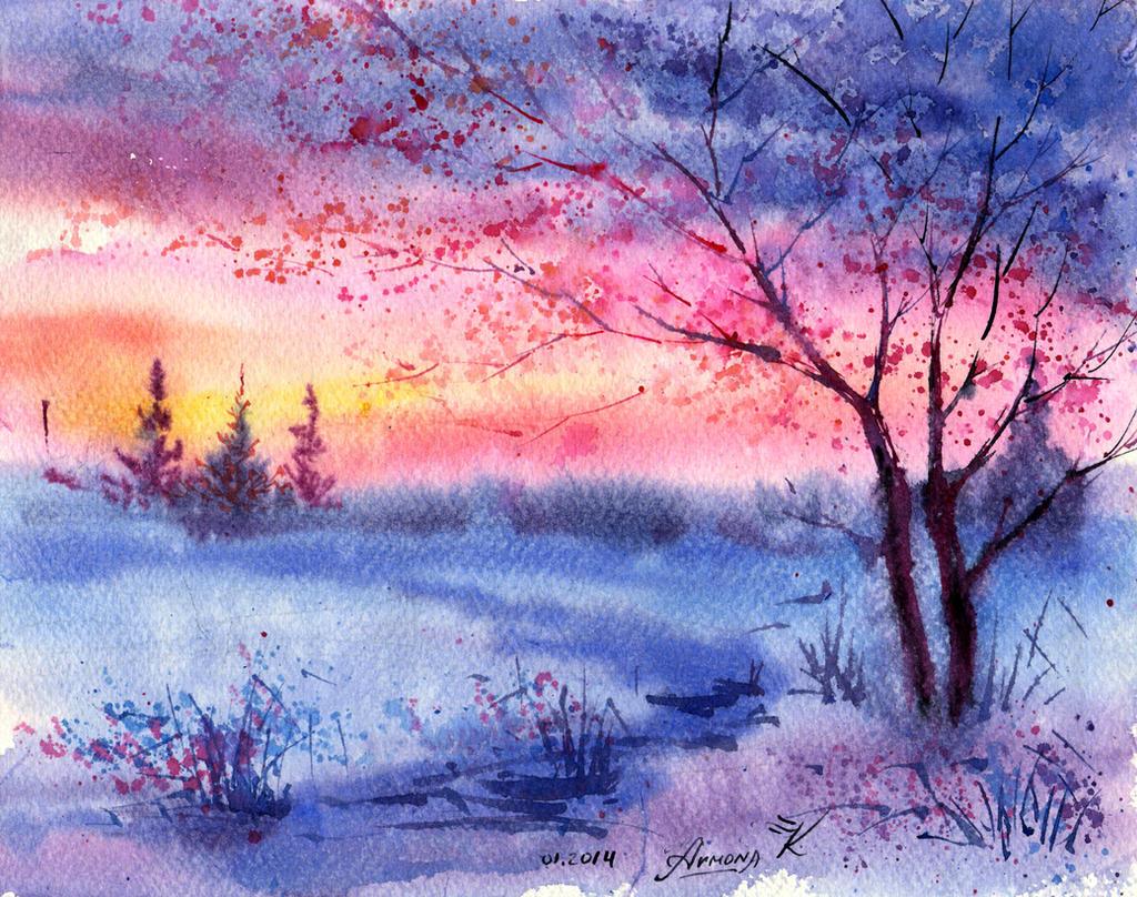 January sunset by AnnaArmona