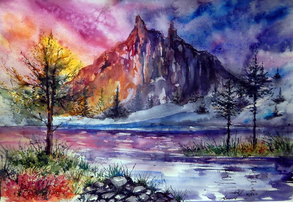 Mountain landscape by AnnaArmona
