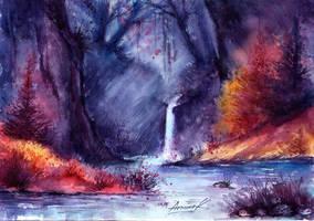 Fabulous waterfall. by AnnaArmona