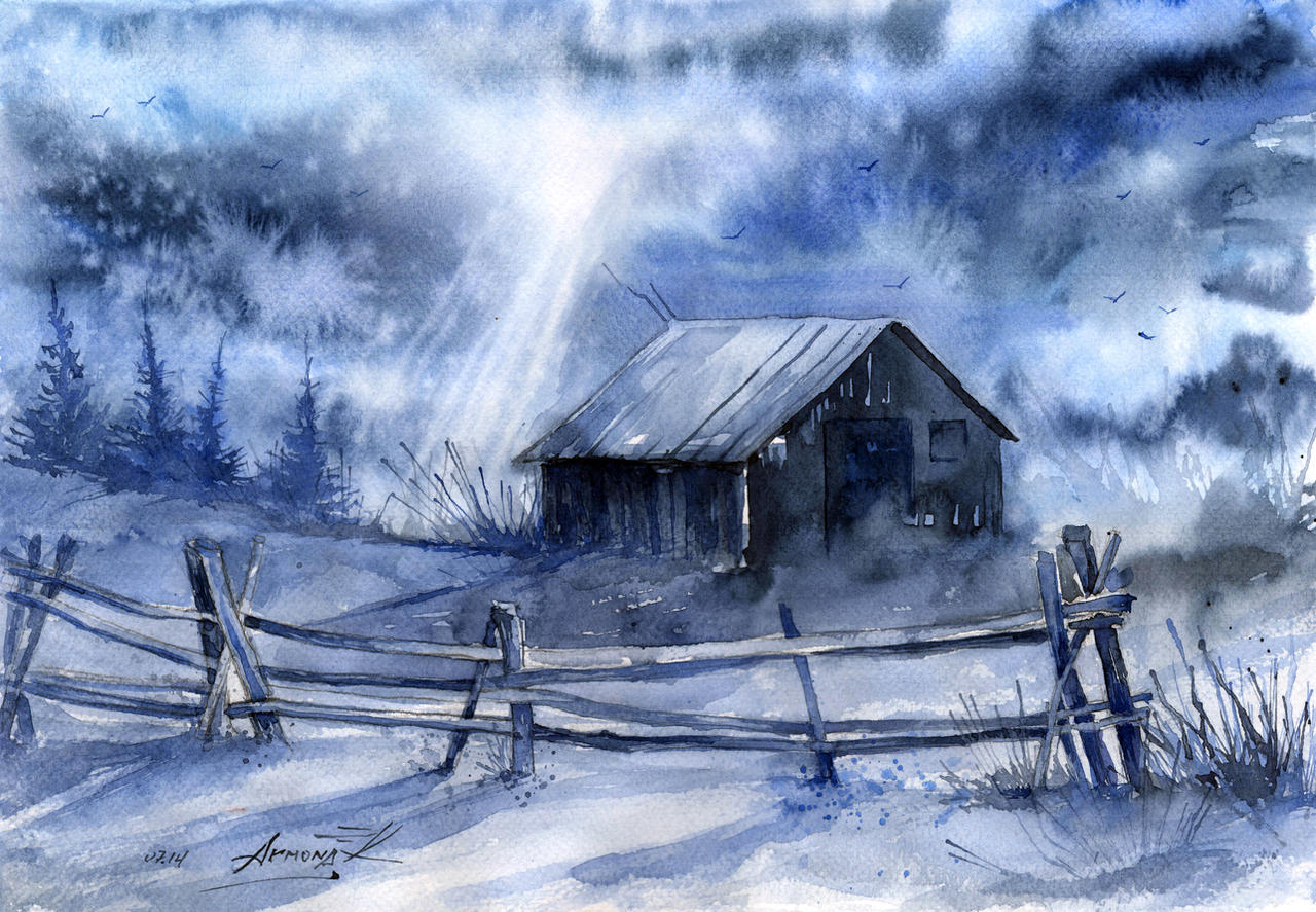 Winter night. by AnnaArmona