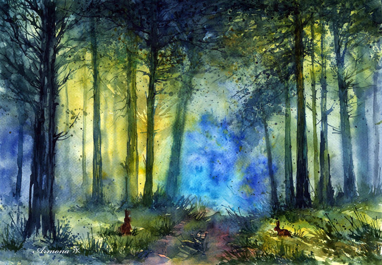 Summer forest by AnnaArmona