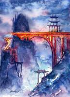 Golden Bridge. Legend about Forgotten World.