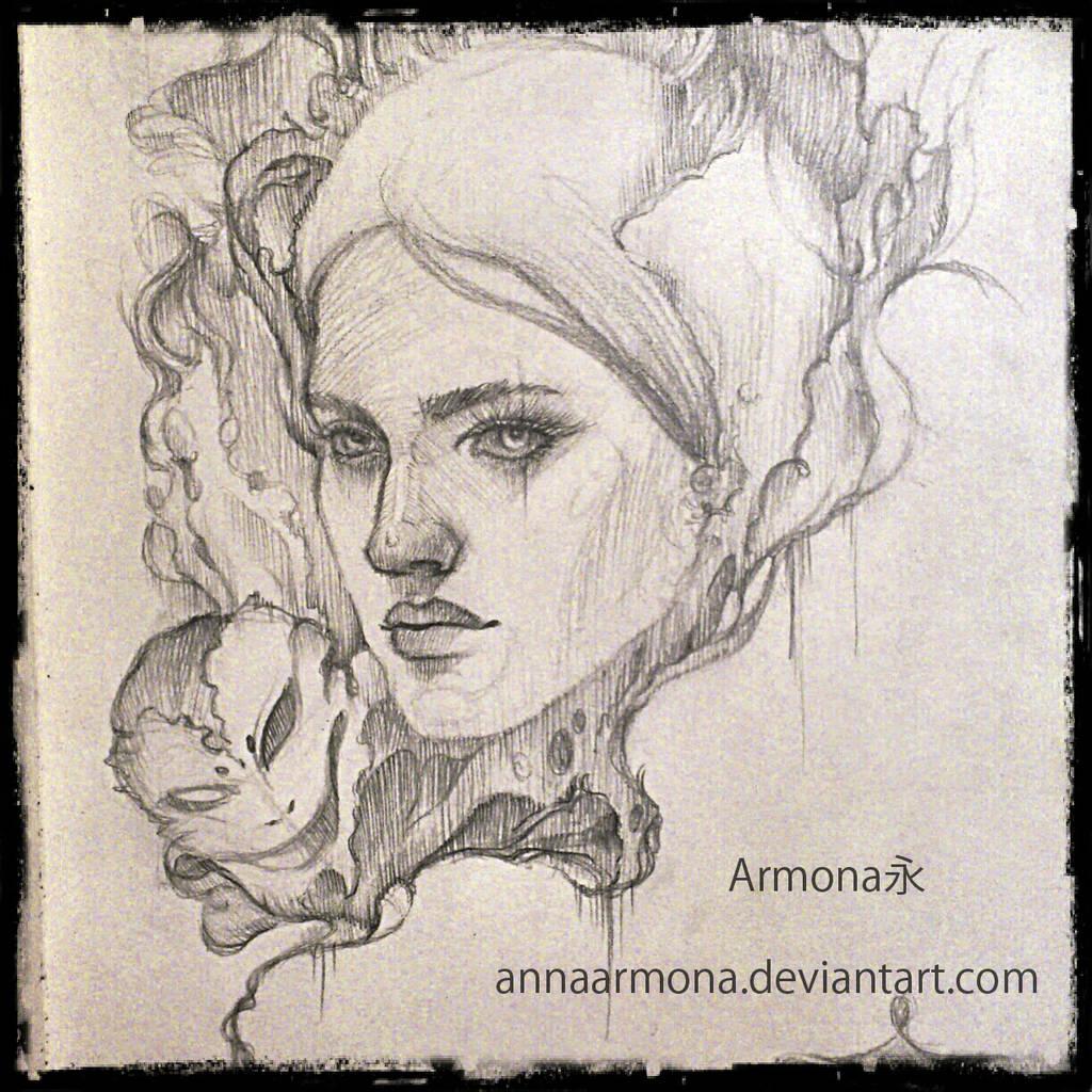 Girls face. by AnnaArmona