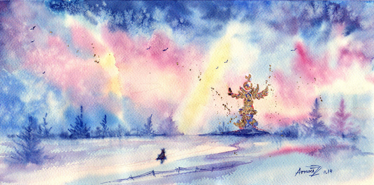 Winter Walk. by AnnaArmona